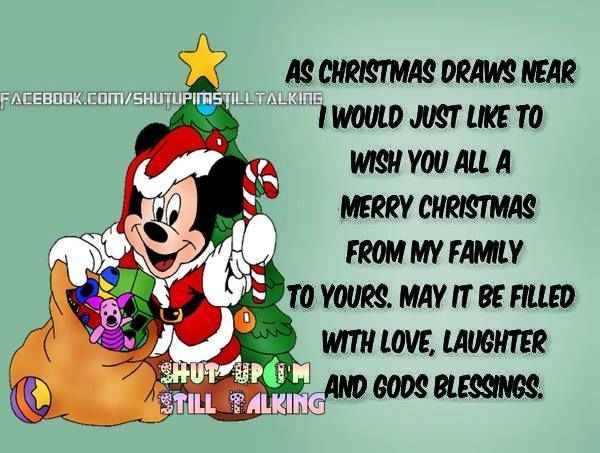 As Christmas Draws Near I Want To Wish Everyone A Merry Christmas ...