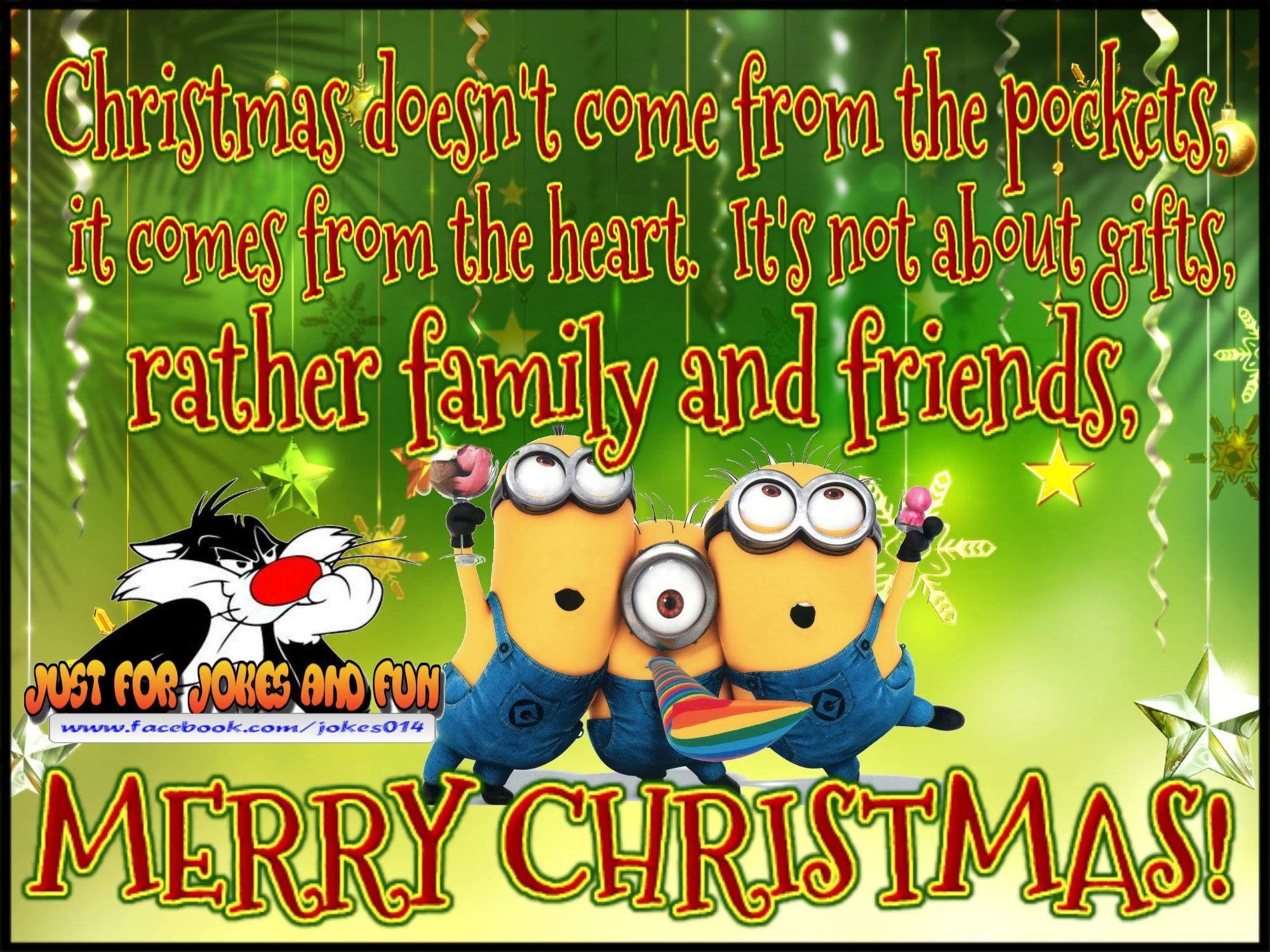 merry christmas minion quote for family and friends - Minion Merry Christmas