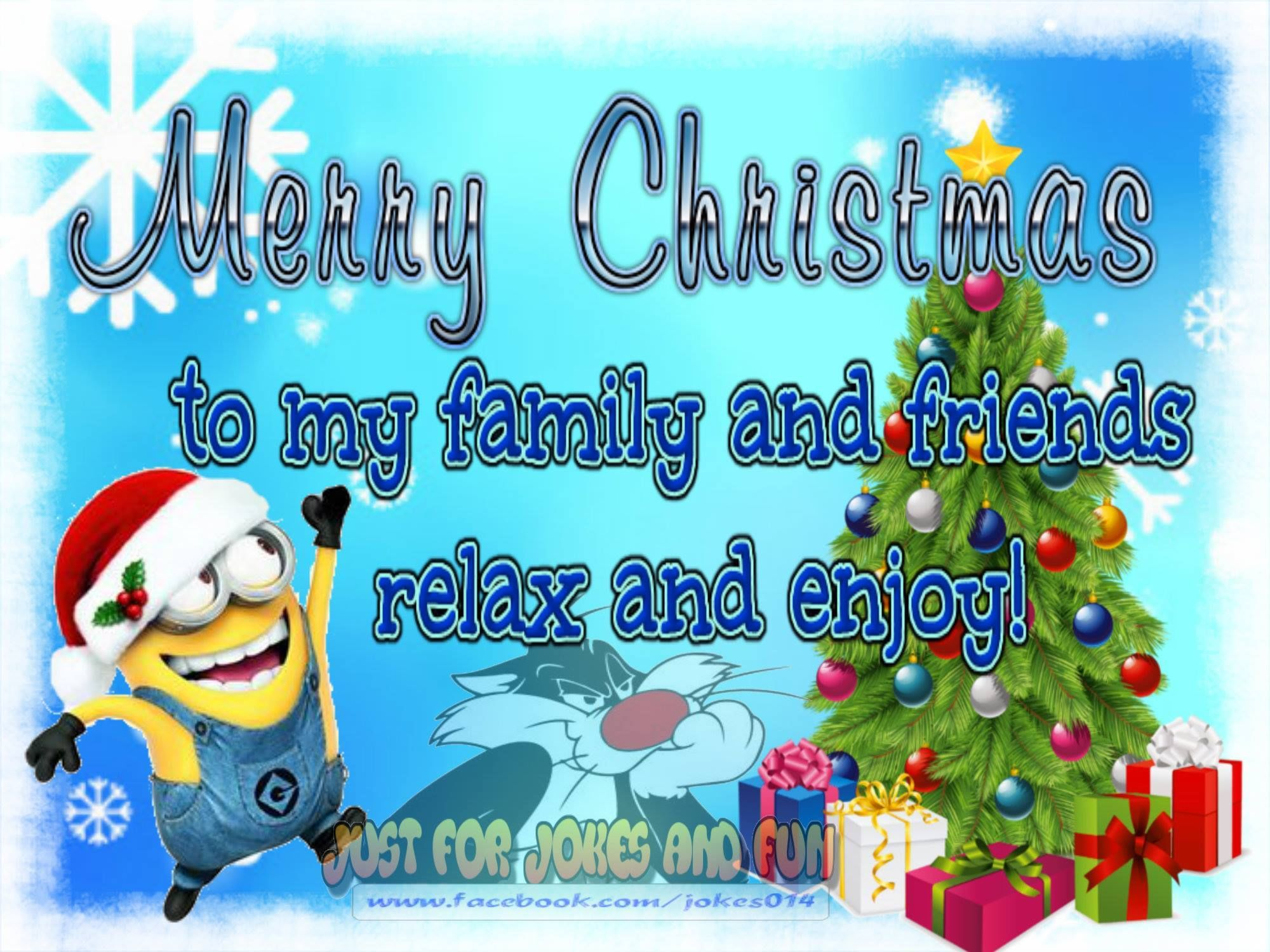 merry christmas to my family and friends minion quote