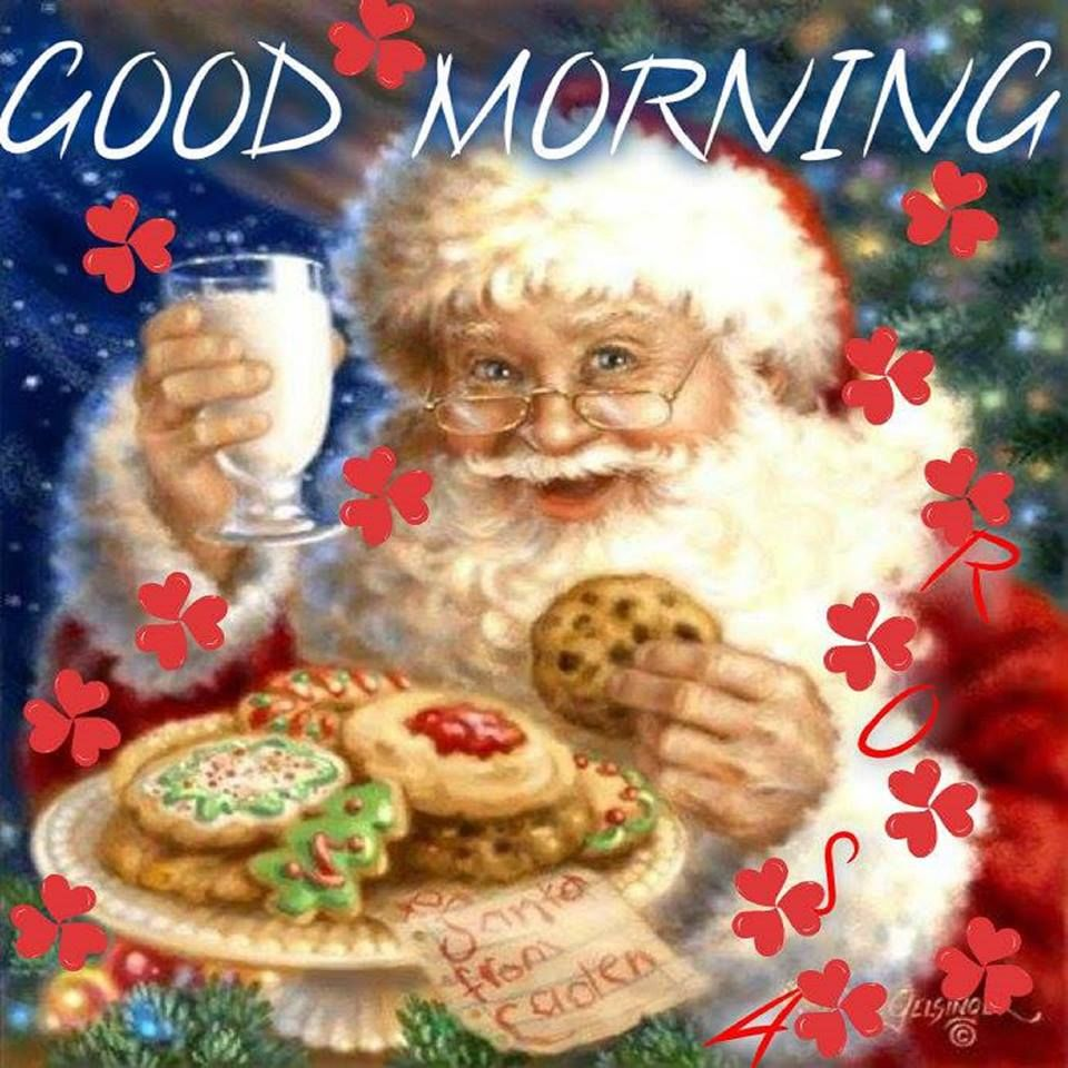 Christmas Good Morning Quotes: Good Morning Christmas Quote With Santa Pictures, Photos