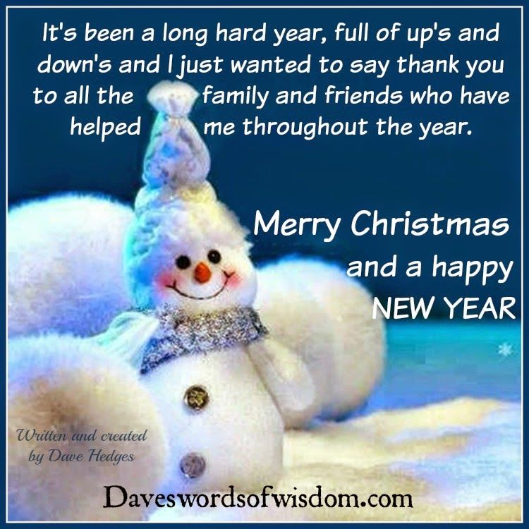 Its Been A Long Hard Year Thank You Family And Friends Merry Christmas ...
