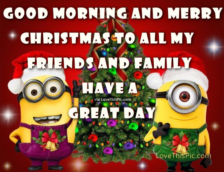 Good Morning And Merry Christmas Minion Quote