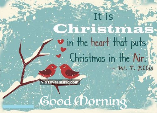 christmas in our hearts good morning quote