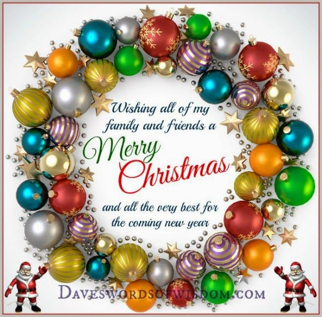 wishing all my family and friends a merry christmas