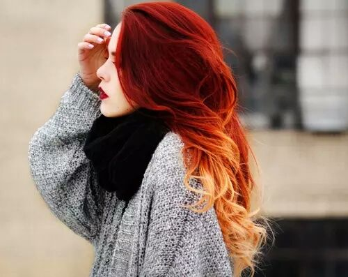 Red Ombre Wavy Hair Pictures, Photos, and Images for ...