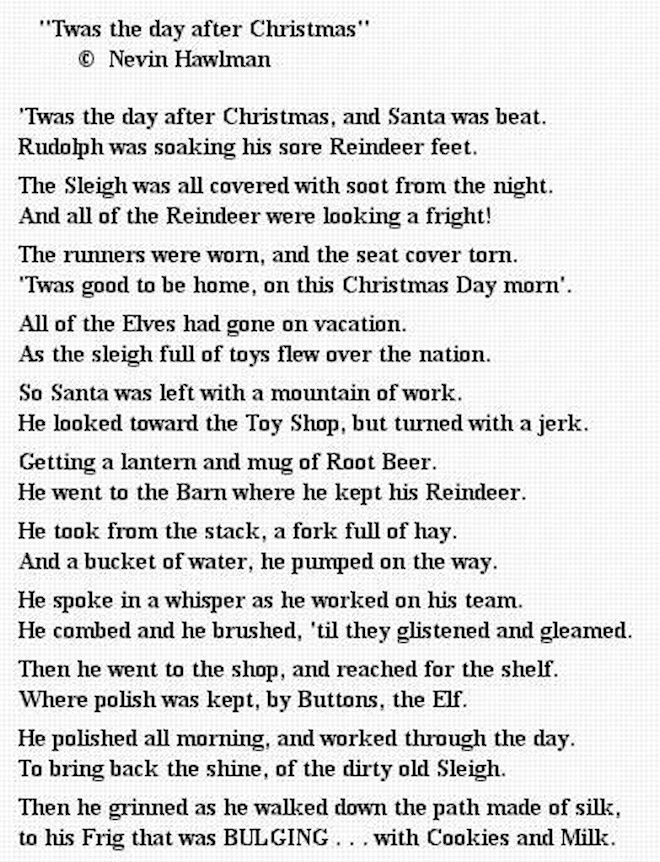 The Day After Christmas Poem Pictures Photos And Images