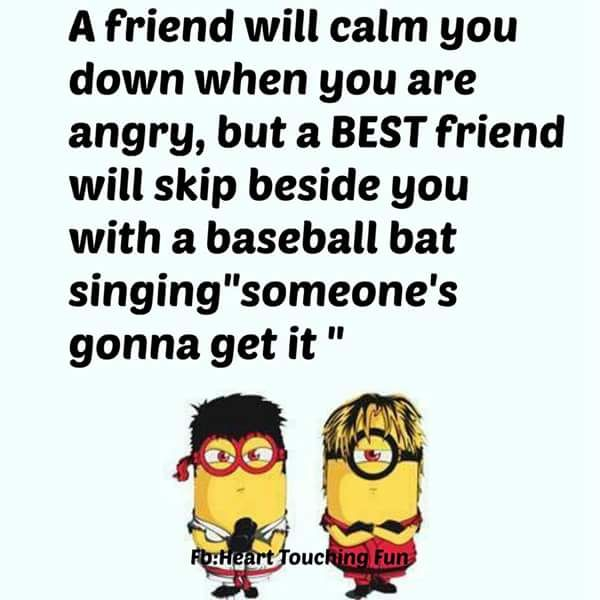 Quote To Friends About Friendship Fair Funny Minion Friendship Quote Pictures Photos And Images For