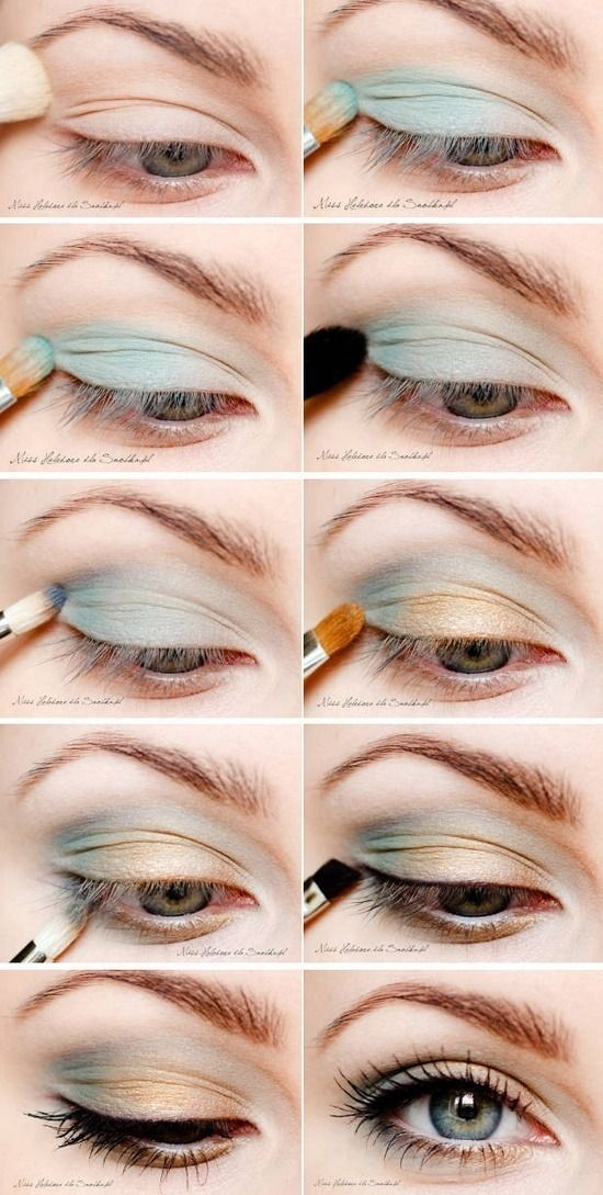 turquoise eye shadow tutorial pictures photos and images