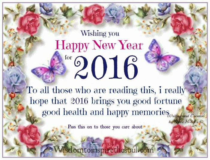 Wishing You A Happy New Year 2016 Pictures, Photos, and Images for ...
