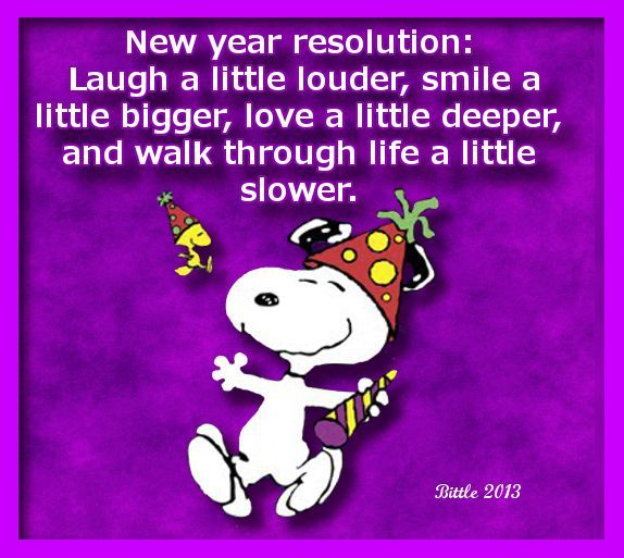 Snoopy New Years Resolution Quote Pictures, Photos, and ...