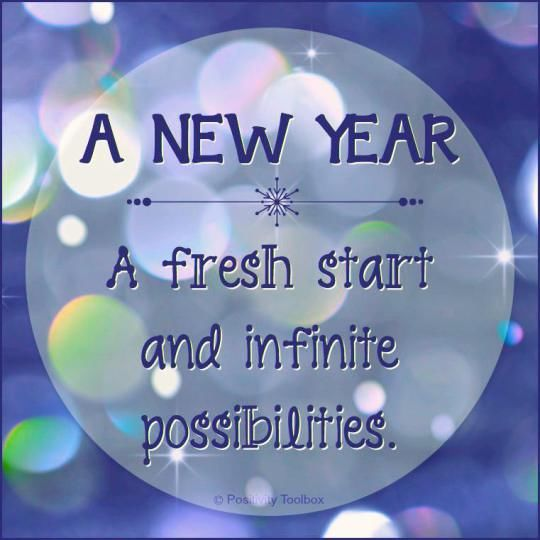 a new year a fresh start