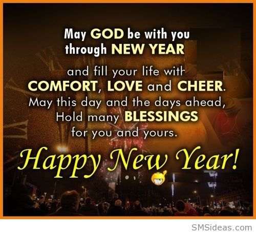 may god be with you happy new year