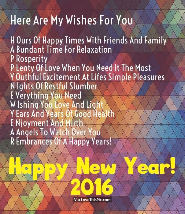 here are my wishes for you happy new year 2016