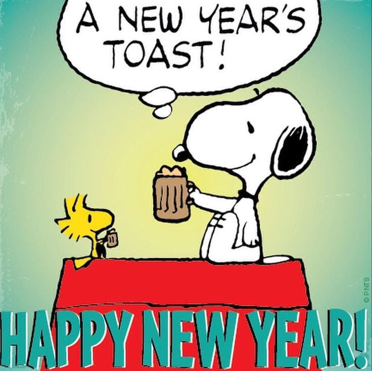 A New Years Toast Snoopy Quote Pictures, Photos, and ...