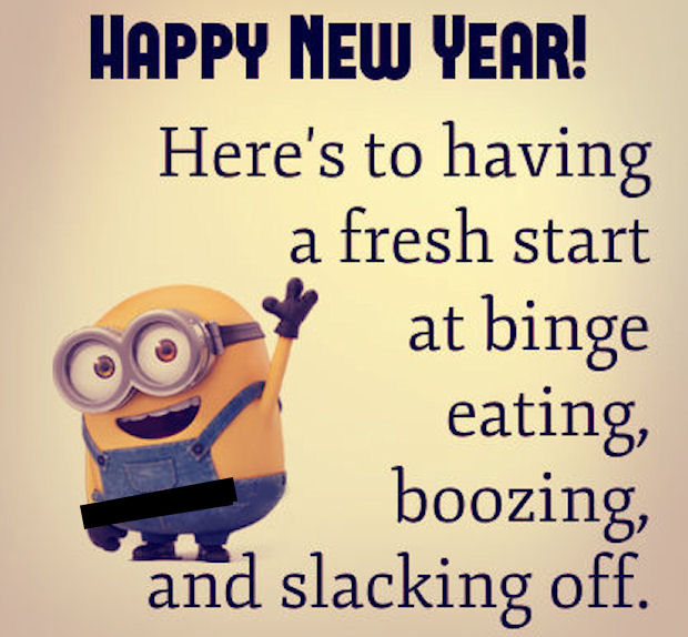 Funny New Year Quotes Happy New Year Funny Minion Quote Pictures, Photos, and Images for  Funny New Year Quotes