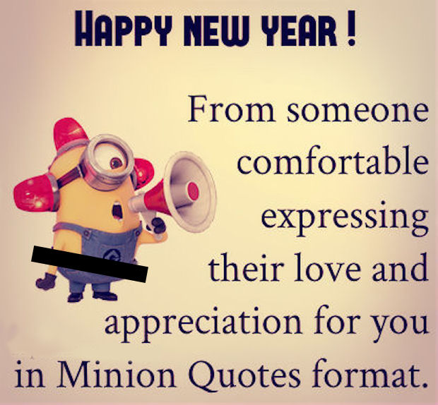 happy new year minion love quote