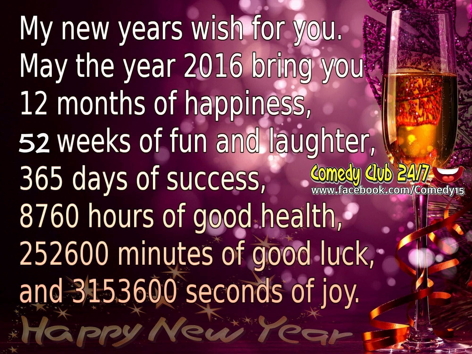 my new years wishes for you