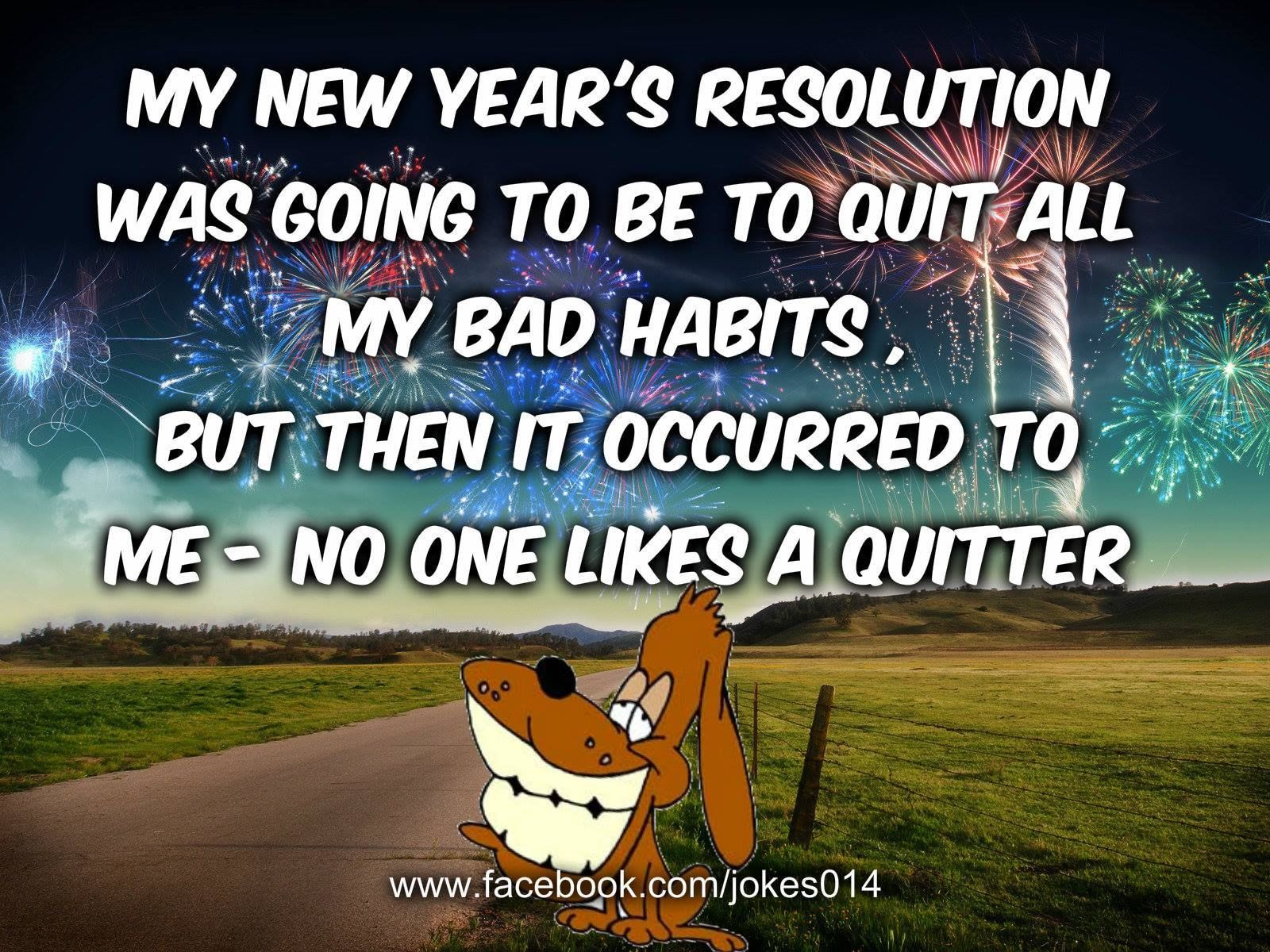 Funny New Years Resolution Quote