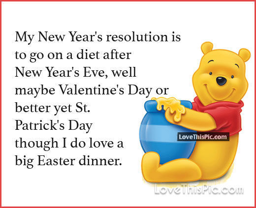 My New Years Resolution Winnie The Pooh Quote Pictures, Photos, and Images fo...