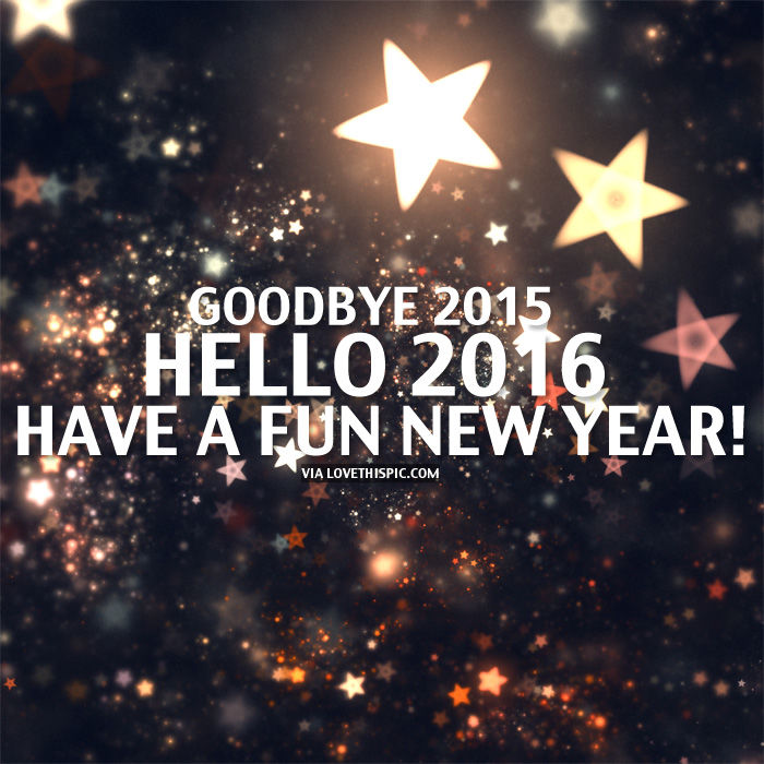 goodbye 2015 hello 2016 have a fun new year pictures