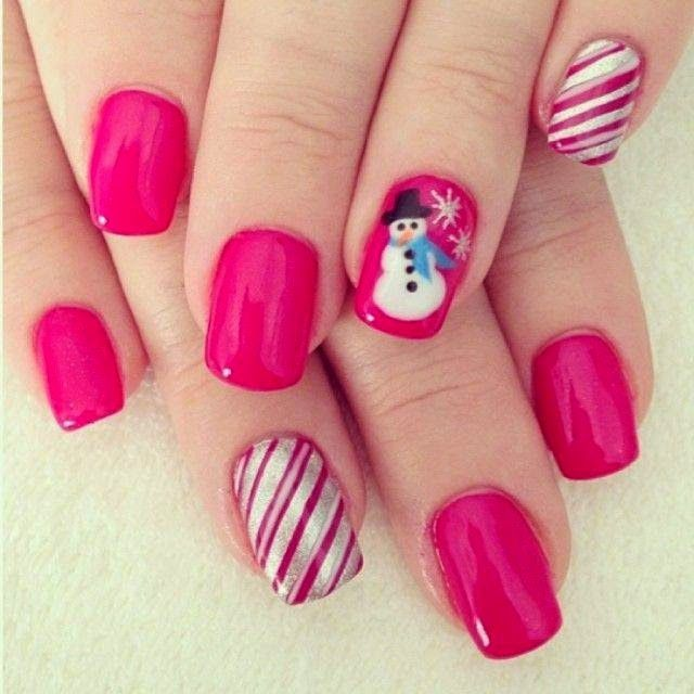 Cute Winter Nail Designs: Cute Winter Snowman Nails Pictures, Photos, And Images For