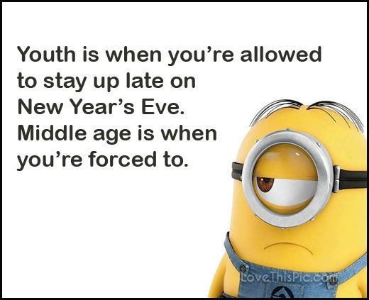 funny happy new years eve minion quote