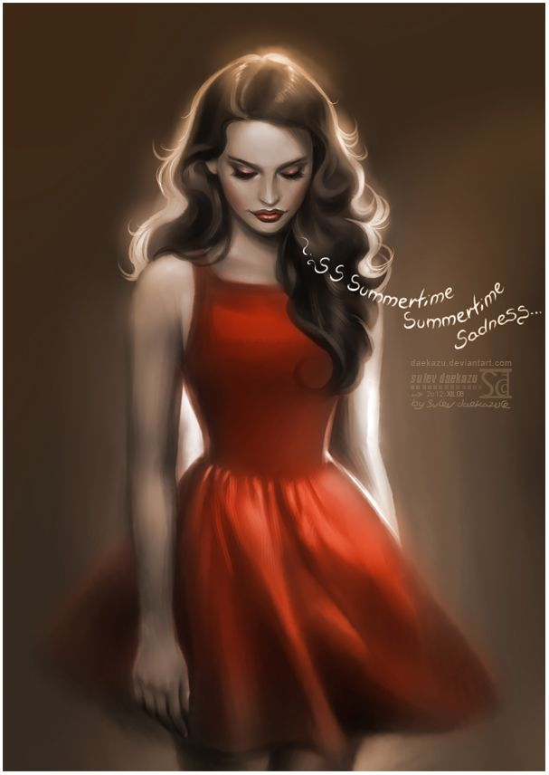 Lana Del Ray Summertime Sadness Illustration Pictures