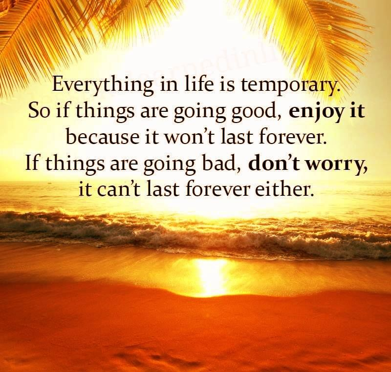 Everything In Life Is Temporary So If Things Are Good