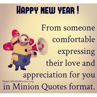 Image of: Wishes Happy New Year Minion Quote Lovethispic Happy New Year Minion Quote Pictures Photos And Images For