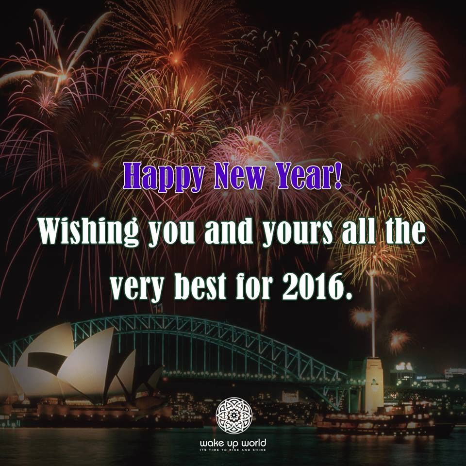 happy new year wishing you and yours the very best for 2016