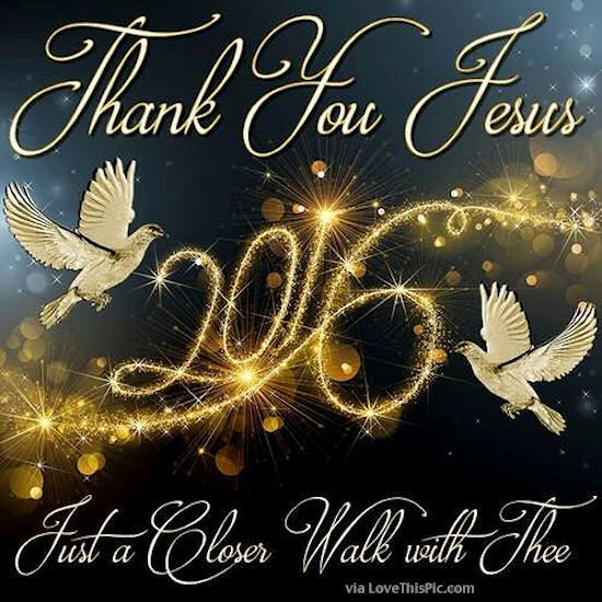 thank you jesus for 2016