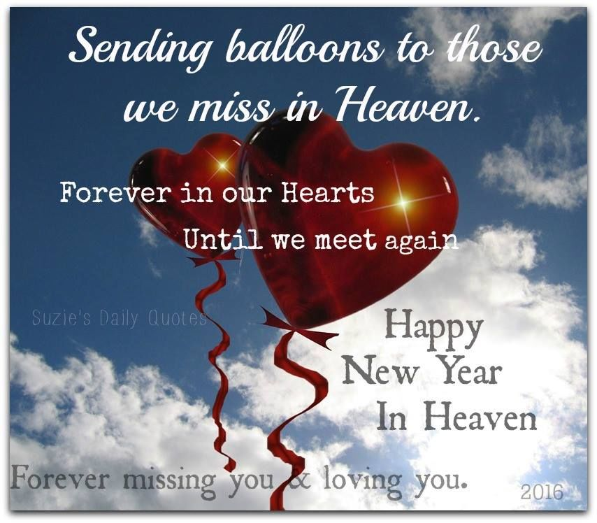 sending balloons to heaven for those we miss this new year