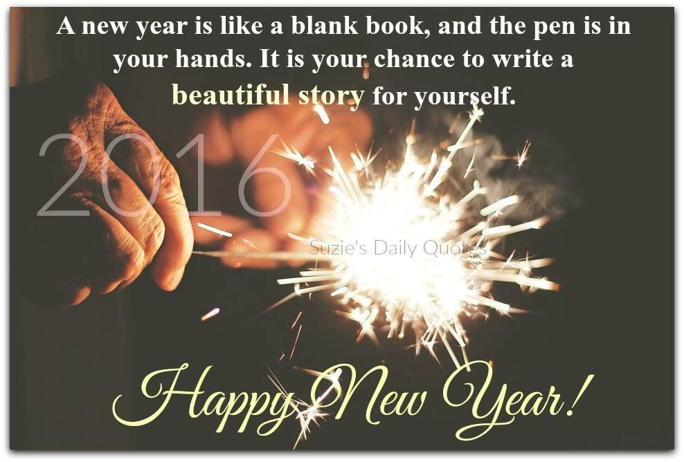 a new year is like a blank book happy new year