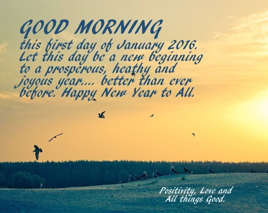 Good Morning Happy New Year To All Pictures Photos And Images For