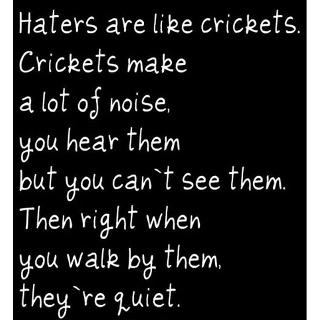 Funny Quotes About Haters: Haters Are Like Crickets Pictures, Photos, And Images For