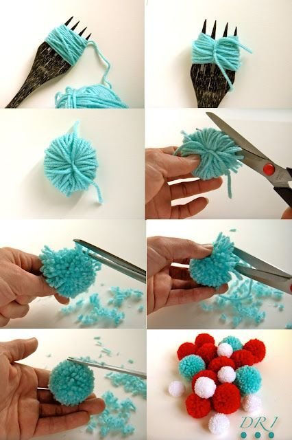 Diy fork pom poms pictures photos and images for - Comment faire des coussins originaux ...