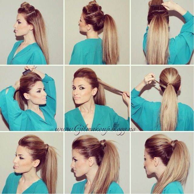 Steps To Make Easy Hairstyles: DIY Perfect Party Ponytail Pictures, Photos, And Images