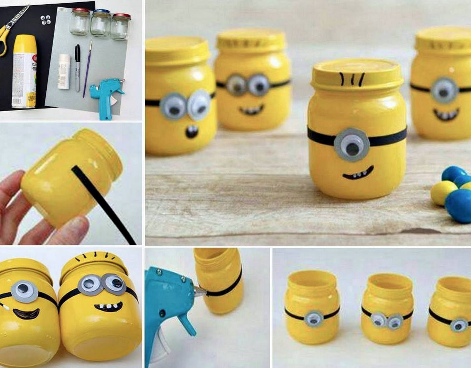 Diy minion jars pictures photos and images for facebook tumblr diy minion jars solutioingenieria Gallery