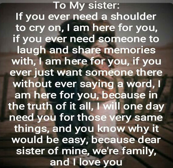 I Love My Sister Quotes A Quote For My Sister Pictures, Photos, and Images for Facebook  I Love My Sister Quotes