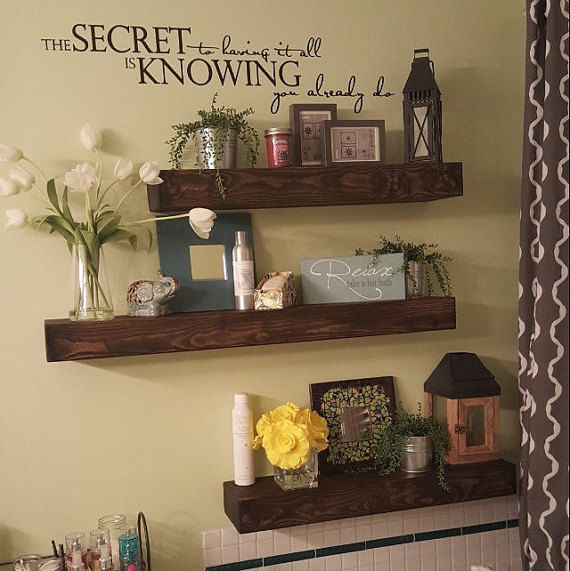 Do It Yourself Home Design: Rustic Style Floating Shelves Pictures, Photos, And Images
