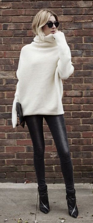 White Sweater With Black Pants Pictures, Photos, and Images for ...