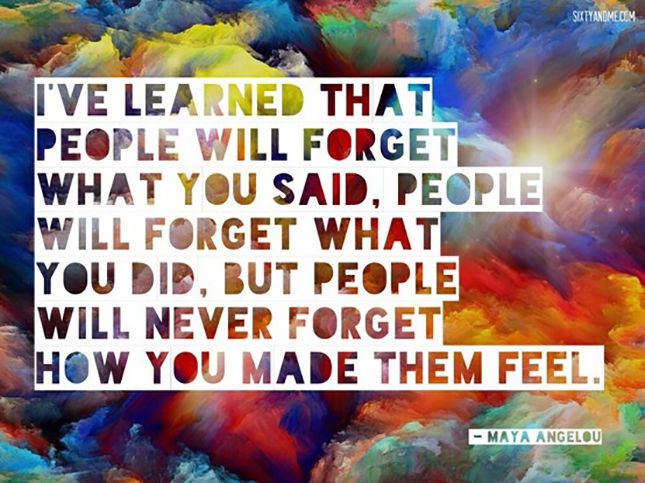 Them how you feel remember made people People Remember