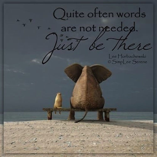 quote often words are not neededjust be there pictures