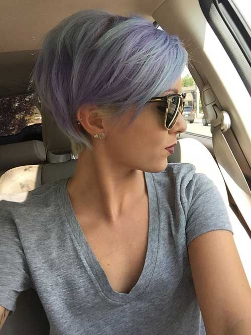 Pastel Dyed Pixie Hairstyle Pictures Photos And Images For