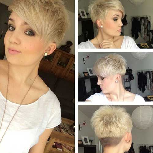 Short Layered Pixie Haircut With Undercut Pictures Photos And
