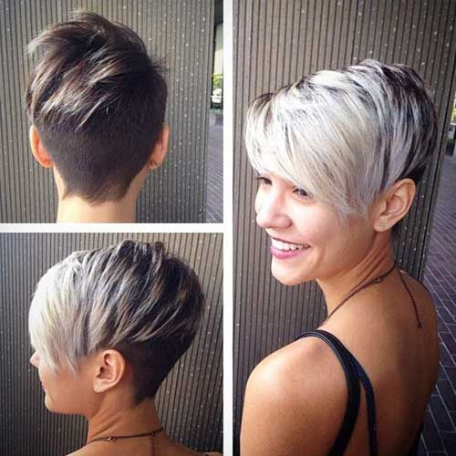 Asymmetrical Short Silver Pixie Haircut Pictures, Photos, and Images ...