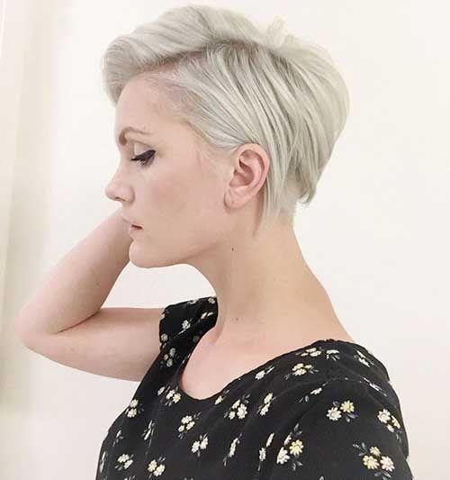 Light Blonde Straight Short Pixie