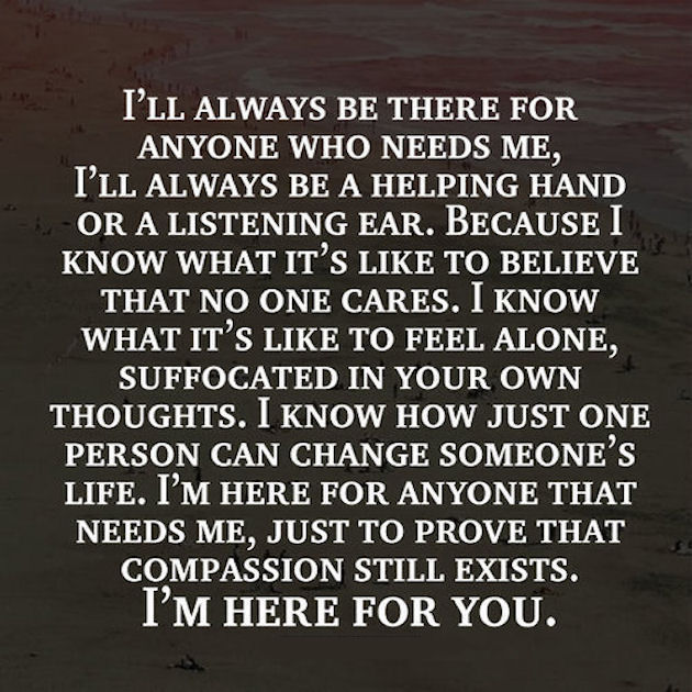 i am here for you