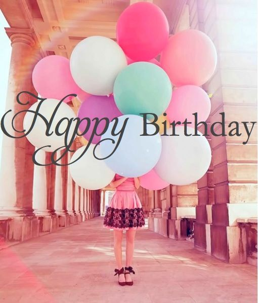 Happy Birthday Quote With Colorful Balloons