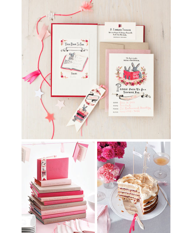 book themed invitations and food for a baby shower pictures photos